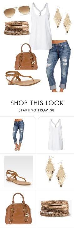 """Summer Casual"" by lsimms75 ❤ liked on Polyvore featuring True Religion, KORS Michael Kors, Dorothy Perkins, MICHAEL Michael Kors, Forever 21 and Ray-Ban"