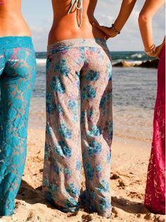 We love these lacy wide-leg pants. Perfect for a breezy day on the beach.