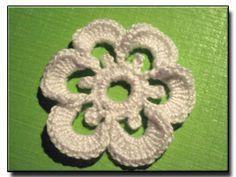 6 Petal Flower crochet pattern No. 112