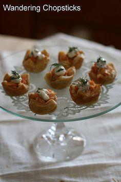 Wandering Chopsticks: Vietnamese Food, Recipes, and More: Salmon and Dill Mini Tarts
