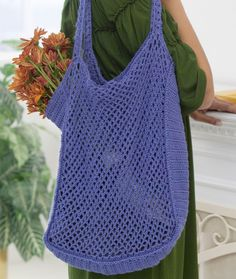 Mesh Market Bag Crochet Pattern | Red Heart