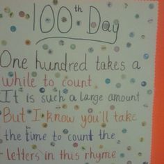 100th day of school activity!