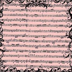 FREE Digital Scrapbook Paper - Vintage Sheet Music