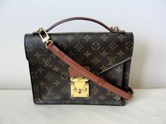febf0f8c2ca1 Get the trendiest Cross Body Bag of the season! The Louis Vuitton Monceau  Monogram Leather Cross Body Bag is a top 10 member favorite on Tradesy.