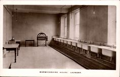 cc656fd165 Warwickshire House - Gower St female workers hostel - laundry room ...