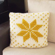 Nordic star pillow Crochet pattern to add a festive touch to your home this Holiday Season. Find this pattern and more inspiration at LoveCrochet.Com.