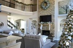 Kelley Nan: 2015 Christmas Home Tour  I love the Painting of the Tree!