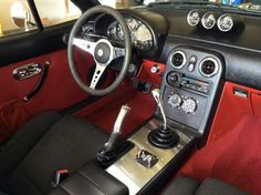 Mx5 miata roadster interior aluminium console bent shifter.  pinned by http://FlanaganMotors.com