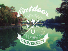 Outdoor University. Travel Gifts, Logo Ideas, Logo Branding, Outdoor Gear, Mood Boards, Logo Design, Label, Graph Design
