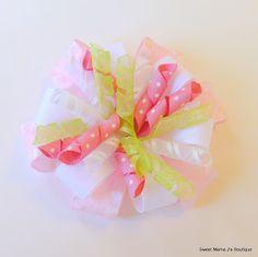 Korker Flower Hairbow - The Ribbon Retreat Blog
