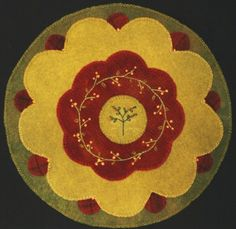 Penny rugs first appeared in New England in the mid-1800s and flourished during the Victorian era. Coins were used as templates for the circles; thus the name, penny rug. Author of Pennies from Heaven, Gretchen Gibbons, taught this class at the Mansion in January 2013.