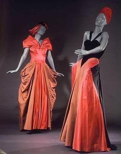 1946 silk Evening dresses by Charles James, via MMA.