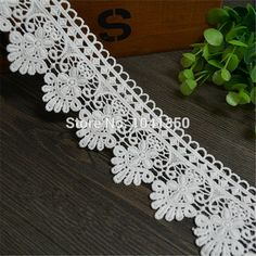 5.5cm white polyester embroidery lace french lace ribbon fabric guipure diy