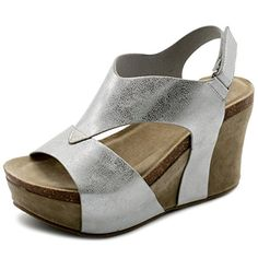 Ollio Women's Shoe Strappy Open Toe Velcro Platform Wedge Sandals TRUCE02 (8.5 B(M) US, White)... OLLIO is a well-established fashion shoe brand over 10 years which carries stylish and an affordable women's footwear. OLLIO offers the best quality at low price and confidently ensure the prestige quality of our products. OLLIO carries a diverse and wide range selection of the latest......http://bit.ly/2qvXUKk