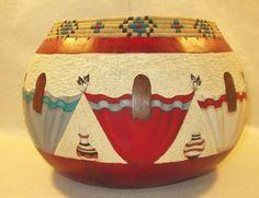 Southwestern Fine Art Gourd Art