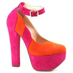 Luichiny Sa Lena in Pink - Say hello to Sal Ena, the newest member of Luichiny. This platform pump literally puts a twist on color blocking. Features a chunky heel, closed toe and an adjustable ankle strap. Retail Price: $94.95    Contact your Nchantment Shoes and Accessories Image Consultant Today! http://nchantment.com/    http://nchantment.com/content/luichiny-sa-lena-pink