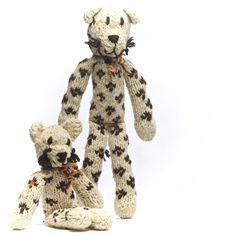 Hand knitted leopards from Kenana Knitters in Kenya. Distributed by Kenana Down Under
