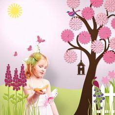 Cute Little Girls Wall Murals Room Design Ideas