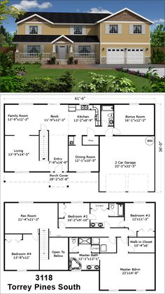 1000 Images About Two Story Floor Plans On Pinterest