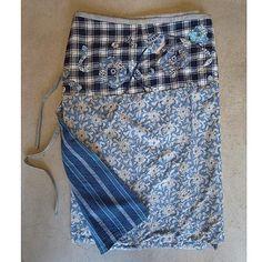 dosa wrap skirt w/applique