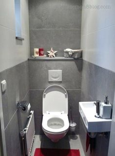 downstairs toilet utility room under stairs Cloakroom Toilet Downstairs Loo, Bathroom Under Stairs, Narrow Bathroom, Tiny Bathrooms, Bathroom Design Small, Toilet Under Stairs, Ensuite Bathrooms, Bathroom Ideas Uk, Bathroom Inspiration