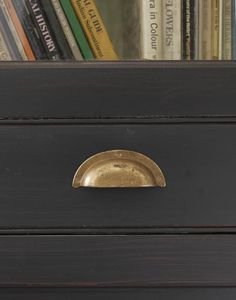 Aged brass drawer pull