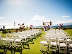 A Coral +  Seersucker Wedding at the Royal Lahaina Resort, Maui