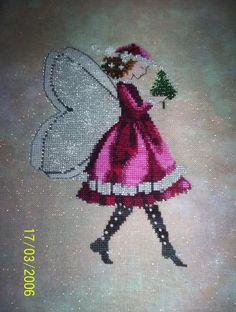 Embroidery cross from Nora Corbett. (Part 1) Mythical LADIES