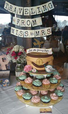 365b1dbfb0c Wedding And the adventure begins cake