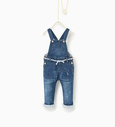 Lined denim dungarees-JEANS-Baby girl-Baby | 3 months - 3 years-KIDS | ZARA United States