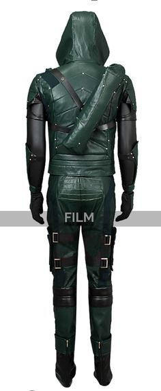 Arrow Season 4 Stephen Amell Hooded Leather Costume