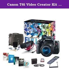 Canon T6i Video Creator Kit with EF-S 18-55mm f/3.5-5.6 IS STM Lens, Rode VIDEOMIC GO Microphone, 32GB SDHC Card - Bundle with Filters, Remote Trigger, Camera Case. Cleaning Kit, Pro Software. For gorgeous, high-quality photos and videos that are easy to share, look to the Canon EOS Rebel T6i camera. The EOS Rebel T6i does more, easier, making capturing photos and shooting videos a breeze. Its high-resolution 24.2 Megapixel CMOS (APS-C) sensor means finely detailed, crisp and…