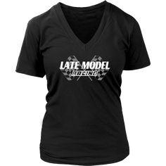 Late Model Racing V-Neck T-Shirt