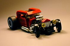 #lego #hotrod Awesome Lego, Cool Lego, Custom Lego, Custom Cars, Lego Teen Titans, Lego Racers, Lego Machines, Lego Police, Lego Kits