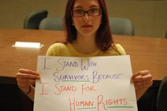 because I stand for human rights.