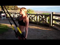 TRX exercises. These ones are perfect