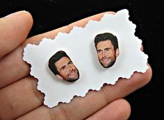 Adam Levine earrings  maroon 5 earrings  Adam Levine face