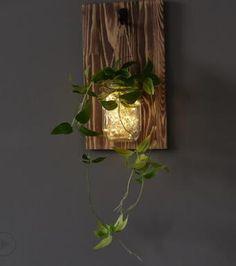 Jinx - Wall Mounted Fairy Light Mason Jar