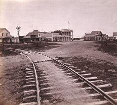 Downtown San Leandro circa 1865 (California Pioneers, Online Archive of California)
