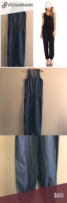 "Theory Denim Lortan W Cadden Denim Jumpsuit Romper Excellent condition!  Measurements: Armpit to armpit: 15"" Waist (stretchy): 14.5"" Length: 54""  *G11 Theory Pants Jumpsuits & Rompers"