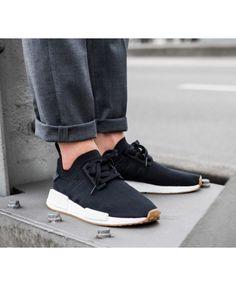 sports shoes 33834 cb8ea Adidas NMD R1 PK Core Black Gum Trainers UK Adidas Nmd Mens Shoes, Cheap  Adidas