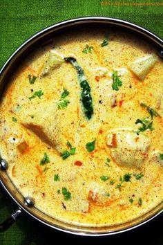 Dahi Aloo - potatoes in yogurt gravy | PK's Kitchen Equations