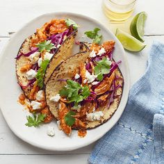 WeightWatchers.com: Weight Watchers Recipe - Spicy Chicken Soft Tacos with Goat Cheese