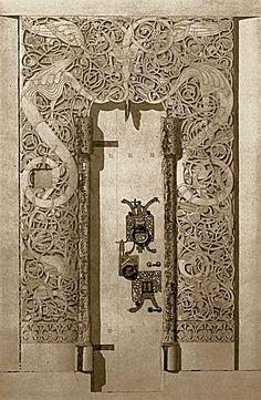 Hedal stavkirke portal - Stave church - Wikipedia, the free encyclopedia Viking Designs, Celtic Designs, Graphic Pattern, Scandinavian Tattoo, Viking Culture, Ancient Vikings, Viking Art, Celtic Art, Anglo Saxon