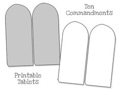 Printable Ten Commandments Tablets - Blank from PrintableTreats.com