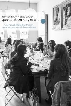 7 Tips for Throwing a Successful Speed Networking Event - A Well Crafted Party event ideas Business Networking, Business Marketing, Networking Events, Event Page, Speed Dating, Working Mother, It Network, Event Planning, Success