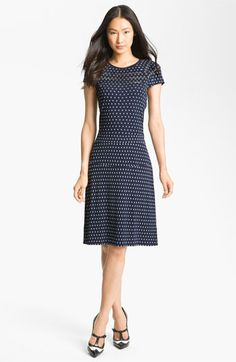 love this, especially as shown with the spectator t-straps!! - Tory Burch 'Mona' Cap Sleeve Dress available at #Nordstrom