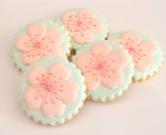Cherry Blossom Cookies by Miss Biscuit