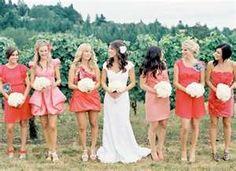 coral bridesmaid