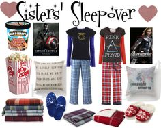 """""""Sisters' Sleepover....."""" by christy-kira-miller ❤ liked on Polyvore"""